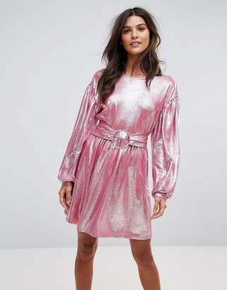 Vero Moda Metallic Skater Dress