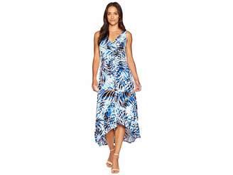 London Times High-Low Matte Jersey Dress Women's Dress
