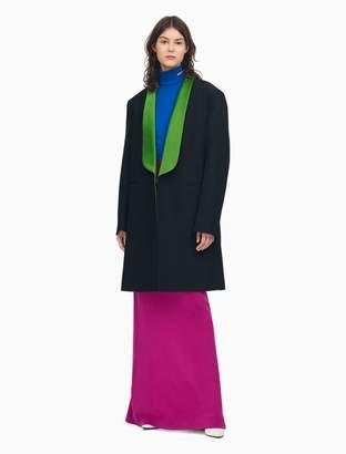 Calvin Klein shawl collar tuxedo coat