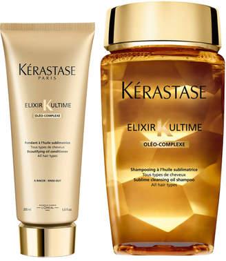 Kérastase Elixir Ultime Huile Lavante Bain 250ml and Elixir Ultime Fondant Conditioner 200ml Duo