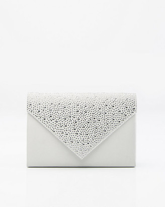 Le Château Jewel Embellished Satin Envelope Clutch