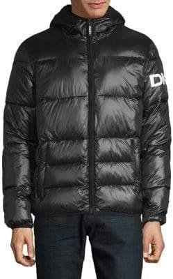 DKNY Logo Hooded Puffer Jacket