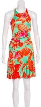 Versus Floral Knee-Length Dress