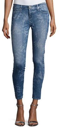 AG The Legging Ankle Printed, Blue $139 thestylecure.com