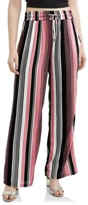Eye Candy Juniors' Printed Rayon Gauze Wide Leg Flare Pants