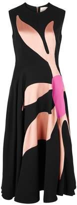 Roksanda Ilia Floral-inlay Silk-blend Dress