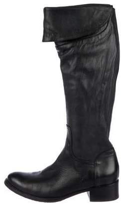 Alberto Fermani Leather Knee-High Boots