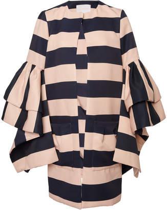 Leal Daccarett Flamenco Stripe Crepe Jacket