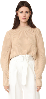 DKNY Extra Long Sleeve Pullover with Back Opening $398 thestylecure.com