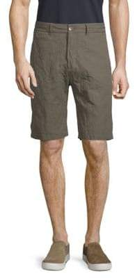 James Perse Metal Tailored Cotton Shorts