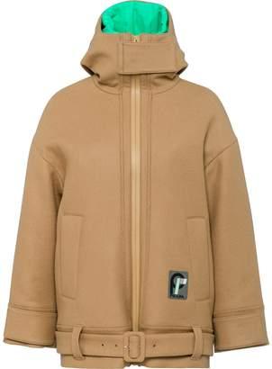 Prada hooded wool jacket