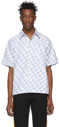 Xander Zhou White Monogram Shirt