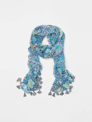 Postcard Scarf in Neo Moroccan Tile