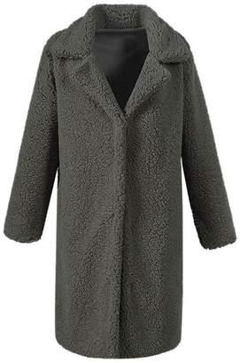 Fashionable MIOIM Womens Girls Warm Winter Fluffy Faux Fur Outwear Jacket Long Coat