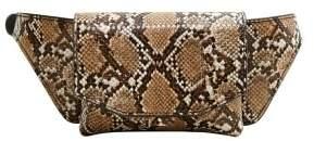 MANGO Snake-effect belt bag