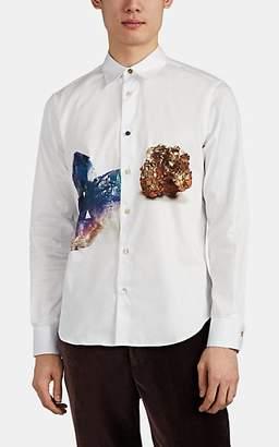 Paul Smith Men's Crystal-Print Cotton Poplin Shirt - White