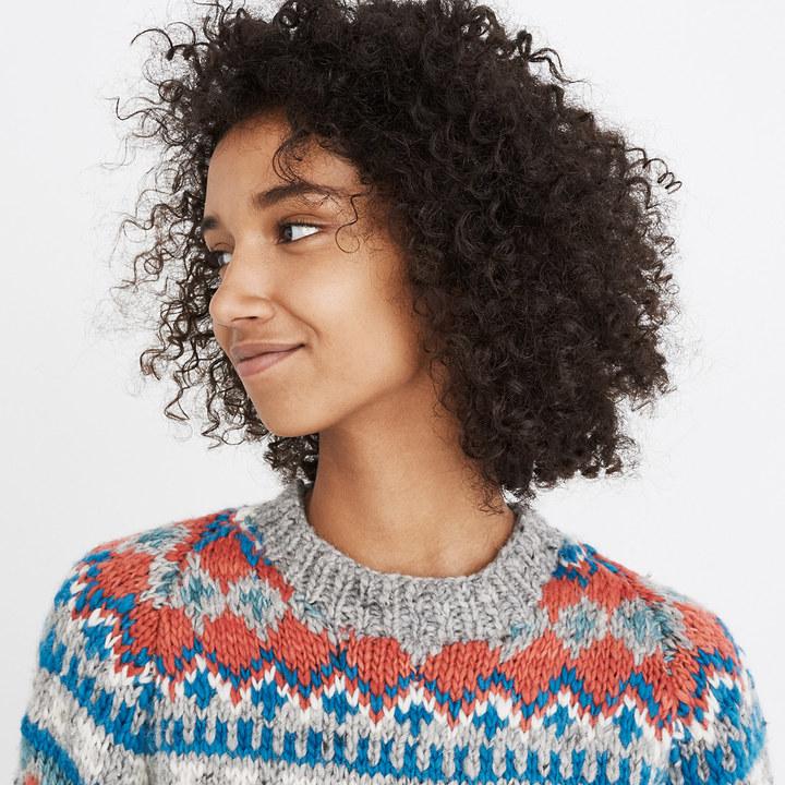 ChamulaTM Fair Isle Pullover Sweater
