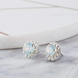 Swarovski Iscah and Mimi Round Bridal Earrings Made With Crystals