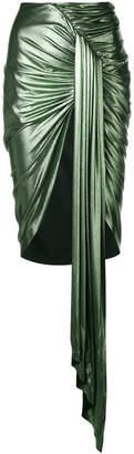 asymmetric wrap style skirt