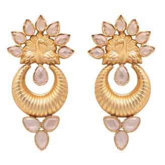 Carousel Jewels - Sliced Crystal Peacock Earrings
