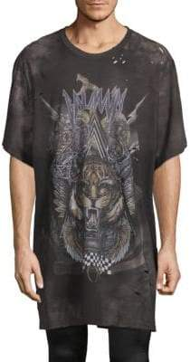 Balmain Graphic Oversized Cotton Tee