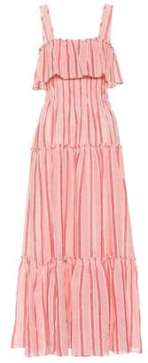 Three Graces London Striped cotton and linen dress