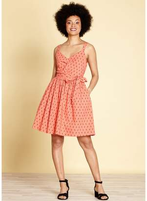 Yumi Graphic Print Cotton Skater Dress