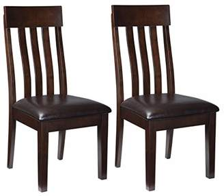 Signature Design by Ashley Ashley Furniture Signature Design - Haddigan Dining Room Chair - Upholstered Chairs - Set of 2 - Dark Brown