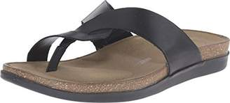 Rockport Women's Total Motion Romilly Curvy Thong Medium Grey Smooth/Gold Pearl (C)