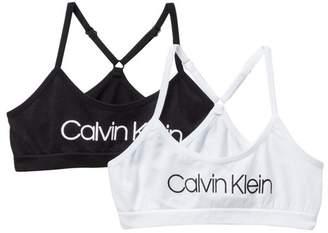 Calvin Klein Racerback Crop Bra - Pack of 2 (Little Girls & Big Girls)