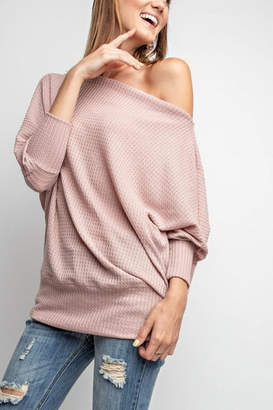 Easel Banded Waffle Sweater