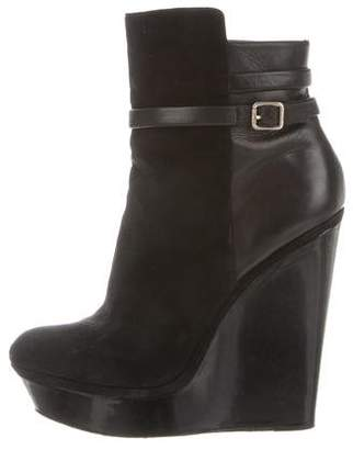 Brian Atwood Wedge Ankle Boots