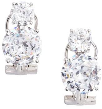 Women's Nadri Double Cubic Zirconia Clip Stud Earrings $45 thestylecure.com