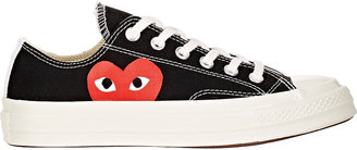 Comme des Garçons PLAY Women's Women's Chuck Taylor 1970s Low-Top Sneakers $125 thestylecure.com