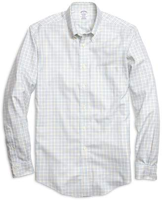 Brooks Brothers Non-Iron Regent Fit Yellow Twin Check Sport Shirt