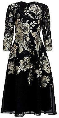 Lela Rose Women's Floral Fil Coupe A-Line Dress