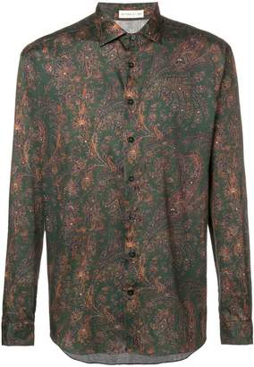 Etro printed button shirt