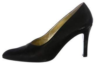 Bruno Magli Satin Semi Pointed-Toe Pumps For sale online cheap in China outlet popular Z5HlRR