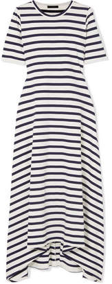 J.Crew Sunset Striped Cotton-jersey Maxi Dress - White
