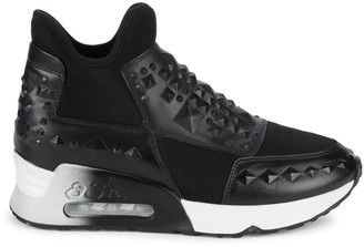 Ash Laser Studded Slip-On Sneakers