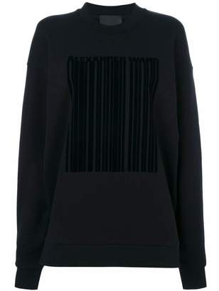 Alexander Wang barcode logo sweatshirt