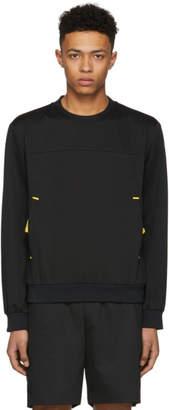 Prada Black and Yellow Tech Crewneck Pullover