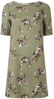 Dorothy Perkins Womens **Vero Moda Khaki Floral Print Shift Dress