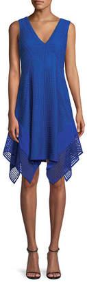 Derek Lam 10 Crosby V-Neck Sleeveless Pieces Lace Dress
