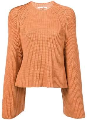 Rosetta Getty cropped knit jumper