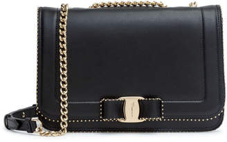 Salvatore Ferragamo Vara Rainbow studs black bag