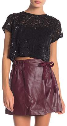 Line & Dot Charmant Cropped Sequin Blouse