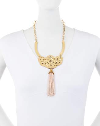 Stephanie Kantis Alliance Rose Quartz Tassel Necklace