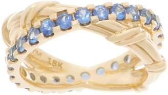 Peter Thomas Roth 18K Gold Sapphire Criss-Cross Ring
