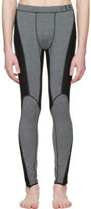 Versace Underwear Grey Panelled Leggings
